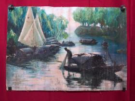 书画8474风景油画