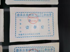 特殊票证,湖南澧县县委政府九九年春节送温暖活动食油券菜油1斤,10枚20元