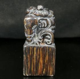 清中期犀牛角雕尖子摆件9