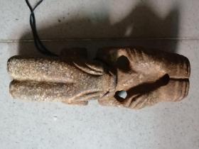 大型天然玉雕人物摆件长18厘米