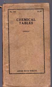 1944年软精装本:《CHEMICAL TABLES 化学成分表》【窄32开】