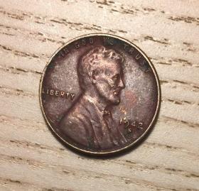 1942年麥穗版美國1美分S版舊金山鑄幣局(鄙視刷屏賣假幣的)