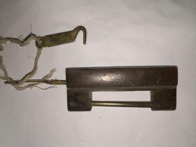 明代紫铜锁一把有钥匙