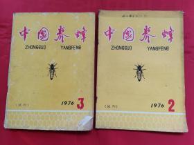 中国养蜂(试刊)1976年第2期、第3期(2本合售)