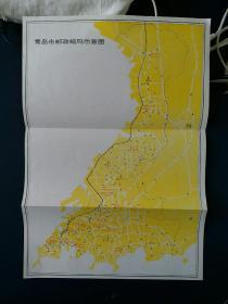 青岛市邮政编码示意图