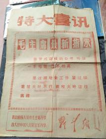 特大喜讯 毛主席最新指示1969年