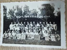 1957年江苏省昆山中学三丁全体同学合影留念合影老照片