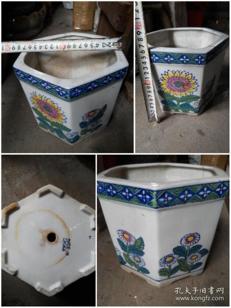 花盆 六角形 陶瓷 小花盆 出口轉內銷