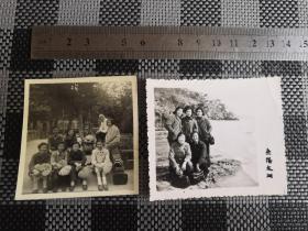 景点老照片、美女照片、合影照片收藏、拿着老蒲扇乘凉、去无锡太湖游玩照片,怀旧复古收藏,尺寸分别为5.9*6.1和7.1*6.1,495号