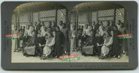 清末民国时期立体照片-------清代晚期北京大学的中外教授和学生合影