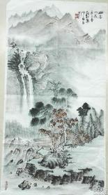 安徽省美术家协会主席张松山水一幅(保真)