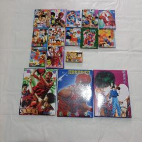 三盒 灌篮高手 明信片 。13盒留言卡 。极品珍藏版 。未用过