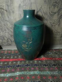 日本回流斑铜赏瓶