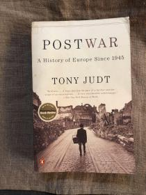 Postwar: A History of Europe Since 1945 战后欧洲史【托尼·朱特,英文版,黄斑比较多,留意品相描述!】
