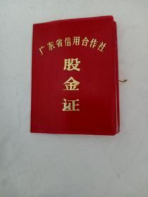 广东省信用合作社:股金证