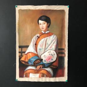 旧藏纯手绘油画【人物】207