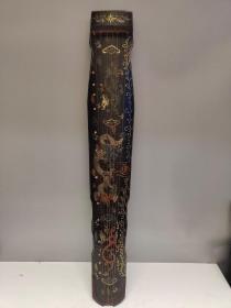旧藏木胎老漆器好琴 彩绘制作【澐龙】漆器古琴一把(可正常使用)
