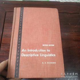 An  Introduction  to  Descriptive   Linguistics描述语言学导论