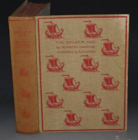 【特价】1915年Kenneth Grahame - The Golden Age 肯尼斯•格雷厄姆儿童文学经典《黄金时代》珍贵MOONY彩色插图本 超大初版本 19张绝美彩色插图 品相绝佳