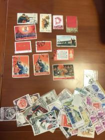 老邮票一堆 约72张 都有残 便宜出 按残票 介意勿拍 打包 平均4元左右
