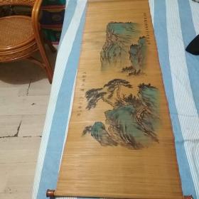 竹帘山水国画(中国人民解放军建军六十周年纪念)