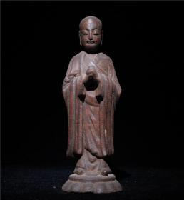 老木雕地藏菩萨雕像