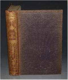 1851 Edward Bulwer Lytton : Night and Morning  爱德华•鲍沃尔-李敦恐怖传奇经典《夜与昼》珍贵初版本 品相佳 增补插图