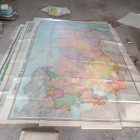 1954年 超大俄文版 苏联政区图 四合一 实物图 品如图   尺寸234X161   货号62-5