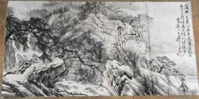 画家陈玉圃作品山水一幅尺寸136×69