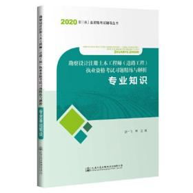 2020勘察设计注册土木工程师(道路工程)执业资格考试习题精练与解析 专业知识