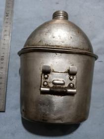 1945年美国沃华夫(vollrath)生产,二战军用铝水壶饭盒一套,尺寸17*13*8cm