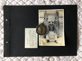 老照片 民国时期 内蒙古草原 蒙古人 六寸 带文字解释 两张合售 蒙古王公 挤奶