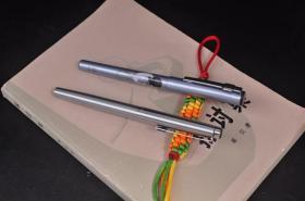 80年代白翎(WHITE FEATHER)F尖嵌入尖鋼筆+得力特制前程似錦0.5mm中性筆一起出