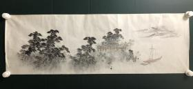 日本回流字画 软片   4756   横幅山水