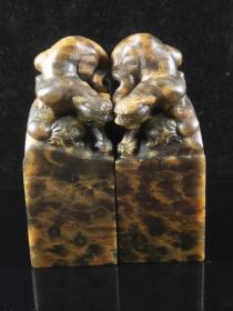 豹纹石古兽对章