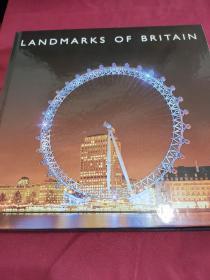 LANDMARKS  OF  BRⅠTAIN     【本书印制于EngⅠαnd (英格兰)。书中有数十幅英国地标建筑彩色图幅。】