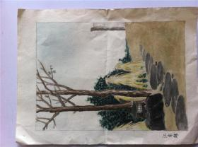 10-1清末日本石版画——彩色硬纸 32cmx24cm