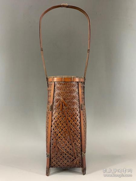 竹編竹,百年老竹編花器