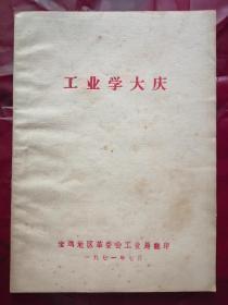 工业学大庆(毛  林题词)