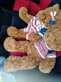 一對泰迪熊 80cm  公仔 毛絨玩具 布娃娃抱抱熊女生大熊… 質量好,手感極佳,不是網上劣質的那種,一直放在車里,一個人開車不寂寞,想閑置出了 當時買的時候100多一只,現50元兩只轉