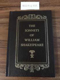 【现货在美国家中、2周左右到国内、全国包顺丰】The Sonnets of William Shakespeare,《威廉-莎士比亚的十四行诗》,威廉·莎士比亚(著),1961年纽约出版(请见实物照片第4张版权页罗马字母 MCMLXI),皮面精装,薄册,88页,珍贵外国文学参考资料 !