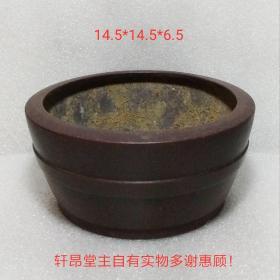 千禧年左右:精致光潔、設色穩重 箍桶造型 老紫砂高檔花盆
