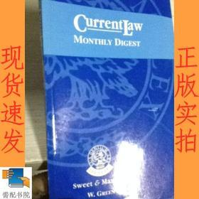 英文书 current law monthly digest january 2001现行法律月刊2001年1月