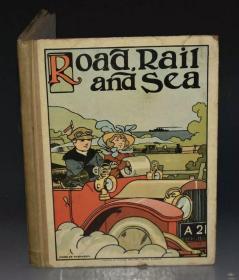 公路,铁路与海洋,A picture book for little folk 1900s交通工具趣味儿童绘本