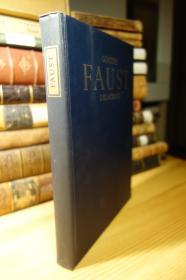 Heritage Press版 歌德的浮士德 Faust : A Tragedy 精装大本 Eugene Delacroix 插画