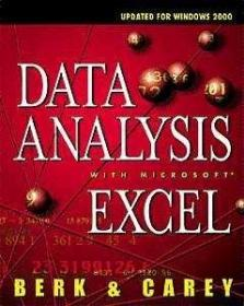 Data Analysis with Microsoft Excel: Updated for Office 2000-用microsoftexcel进行数据分析:为office2000更新