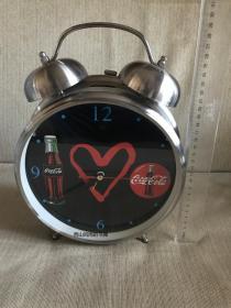 超大號   可口可樂圖案   鬧鐘掛臺鐘   商用咖啡館酒吧家居裝飾  正面表盤直徑21厘米