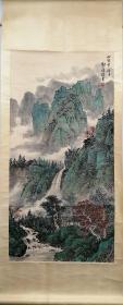 郭传璋山水画立轴,包老包手绘。