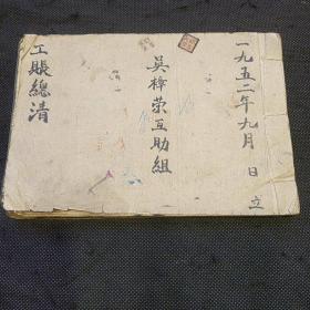 早期竹纸线装账册