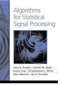 【精装英文原版】Algorithms For Statistical Signal Processing